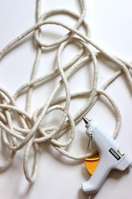 Корзина из верёвки