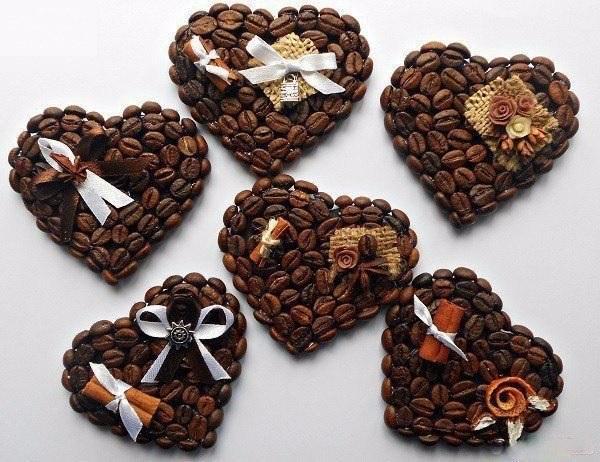 Простые идеи красивого декора из кофейных зерен 0