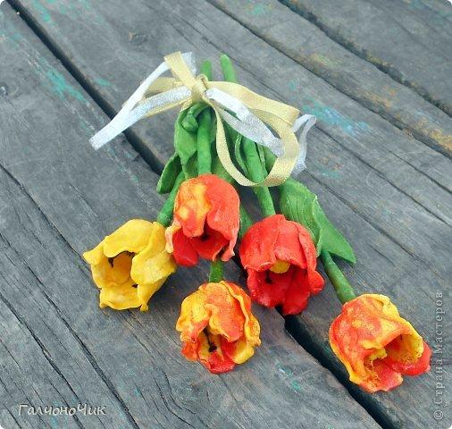Тюльпаны из солёного теста 0