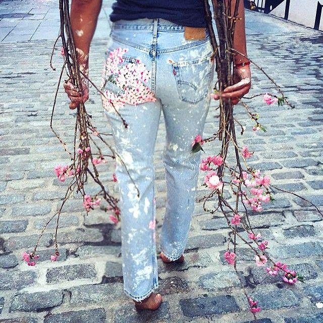 Идеи для декора на джинсах 3