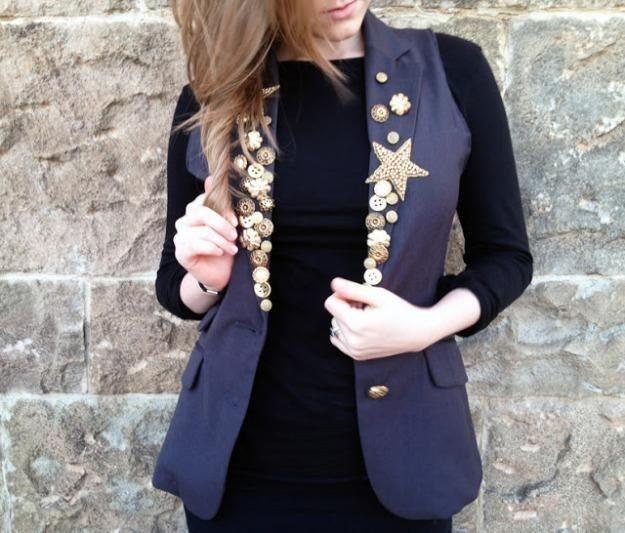 Модные переделки: молодёжный жилет из пиджака