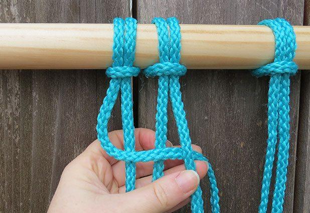 Плетеный гамак для дачи или балкона 4