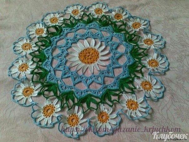 Красивые салфетки с цветами