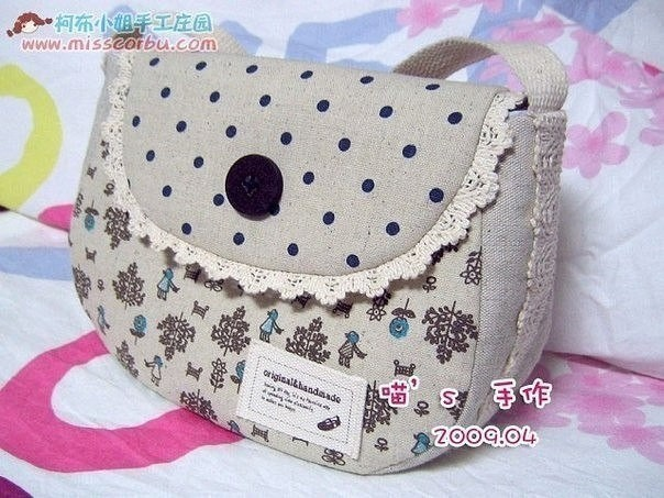 Шьем летнюю сумочку из ткани