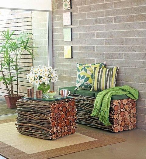 Интересная мебель из веток в стиле эко 0