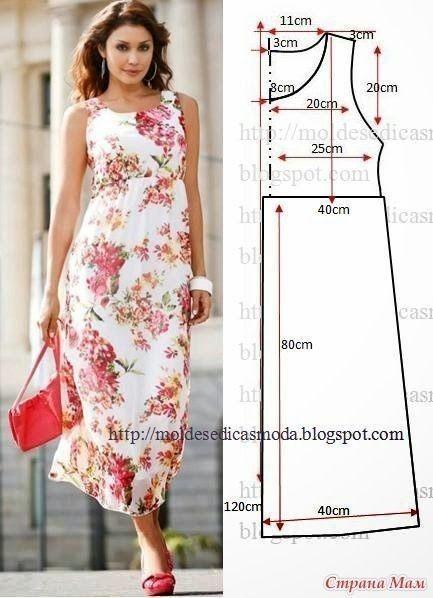 Моделирование летних платьев простых в пошиве 0
