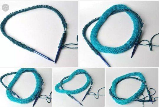 Оригинальный шарфик или как использовать остатки пряжи