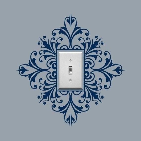 Идеи украшения стен вокруг притолок, выключателей и розеток 0