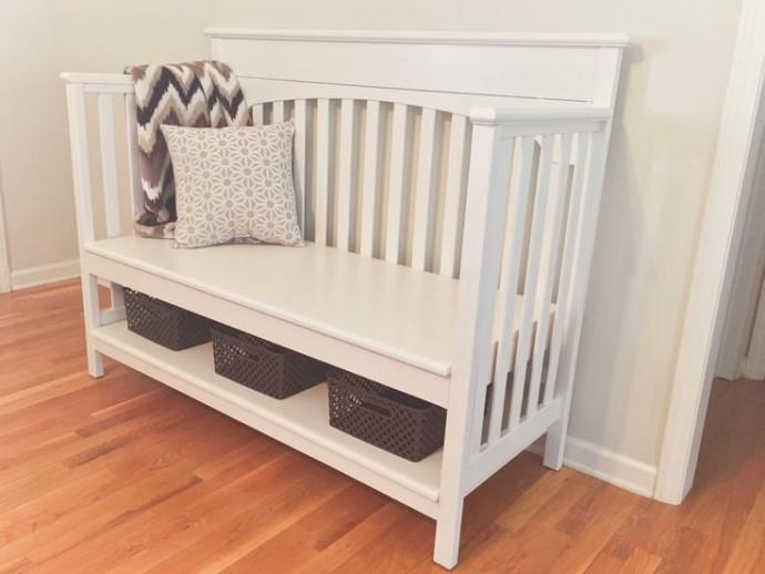 Вторая жизнь детской кроватки: идеи для жизни