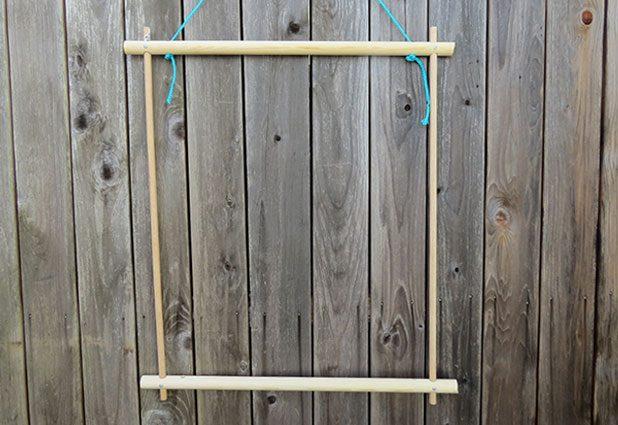 Плетеный гамак для дачи или балкона 2