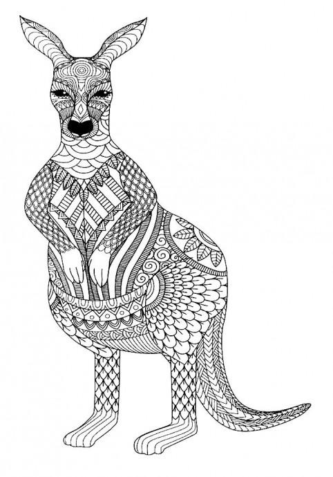 Антистресс раскраски с животными