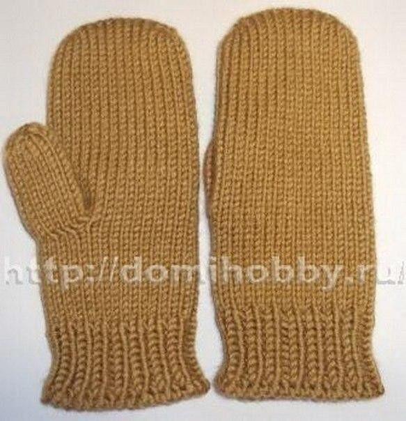 Вязание варежек от кончиков пальцев 0