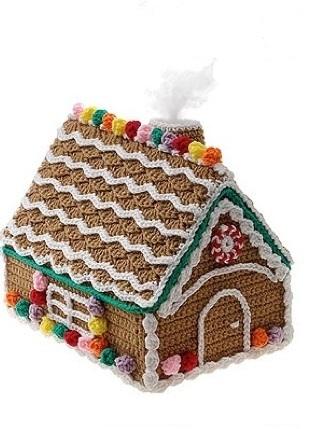Вязаный пряничный домик 1