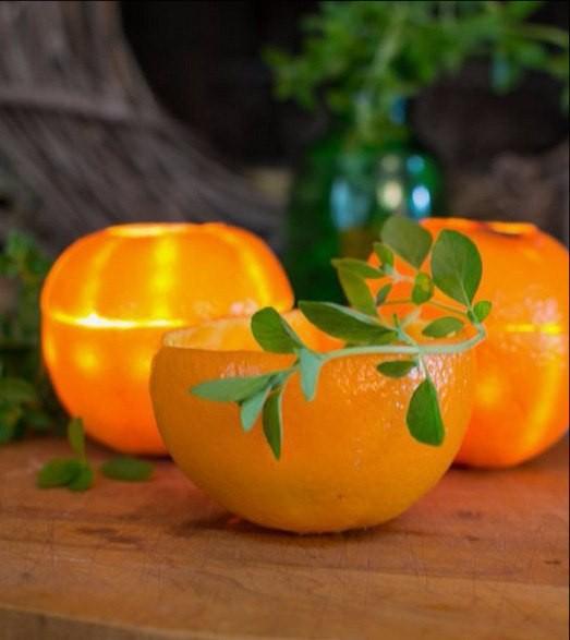 Апельсиновый подсвечник