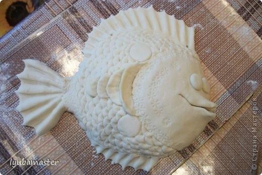 Декоративная рыбка из солёного теста
