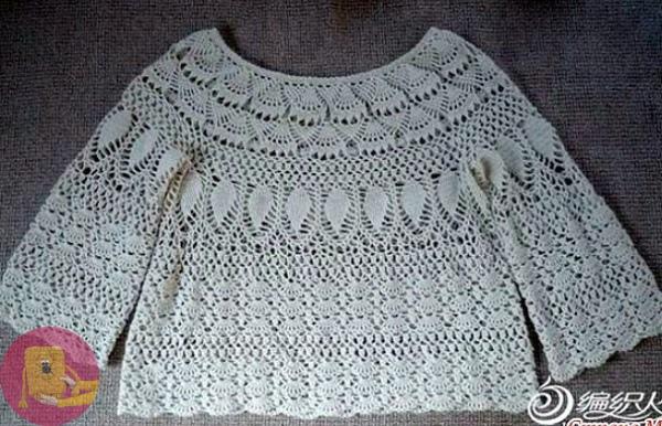 Очень красивая блузка крючком 0