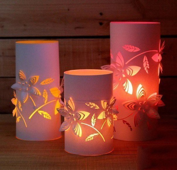 Нежные романтические фонари из бумаги