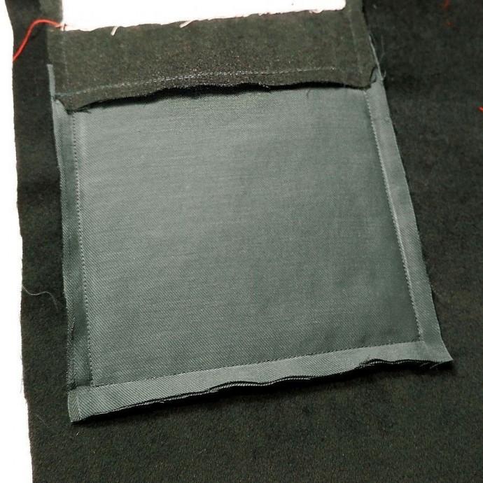 Обработка накладного кармана с двойной подкладкой