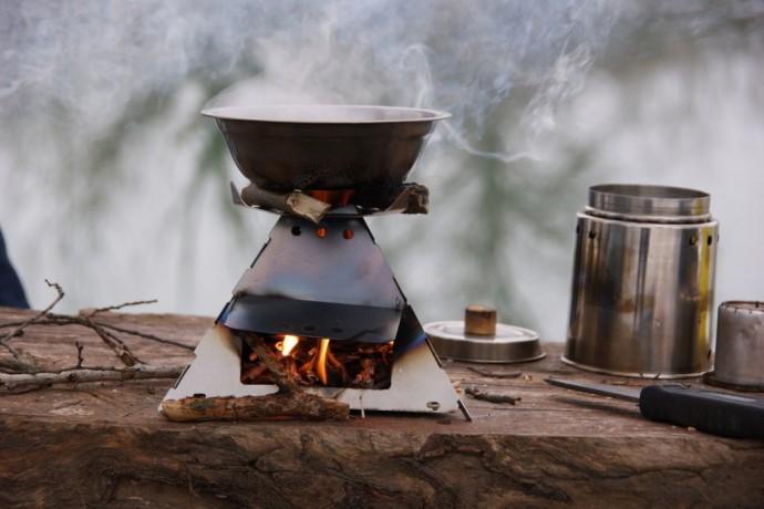 Как сделать походную печь