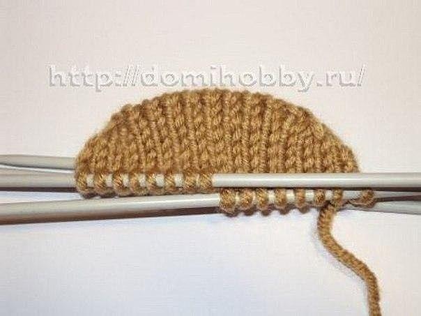 Вязание варежек от кончиков пальцев 5