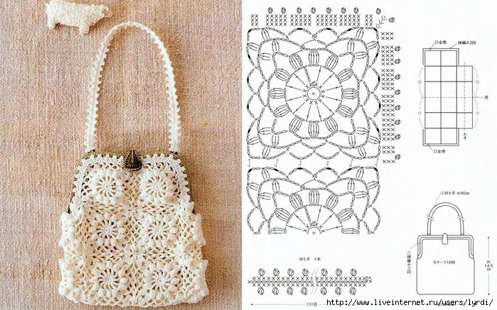 Вязаная сумочка со схемой 11