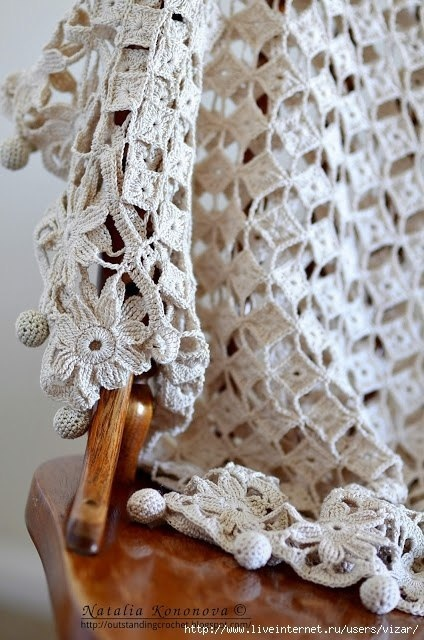Безотрывное вязание: ажурная кофточка 1