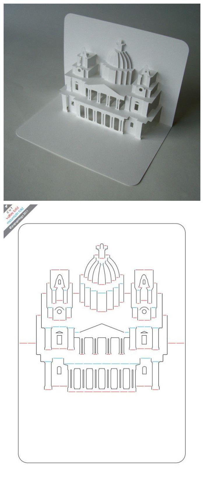 Схемы простые объемная открытка своими руками
