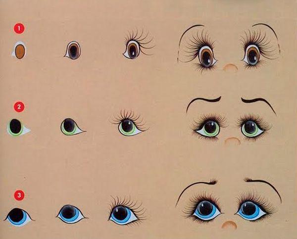 когда нарисовать глаза для куклы картинки начала века