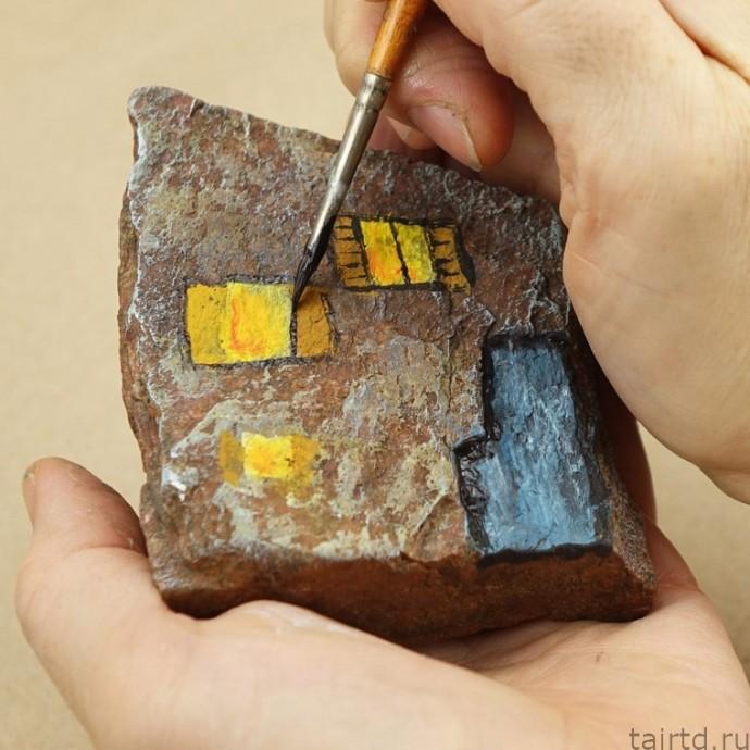 Декоративная роспись камней: мастер-класс