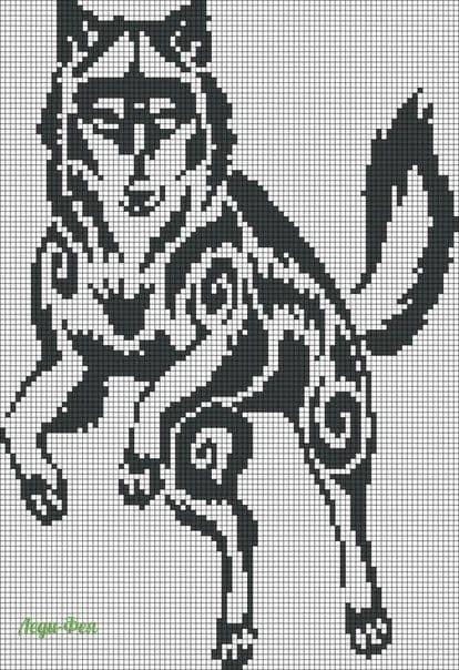 Схемы вышивки собак крестиком