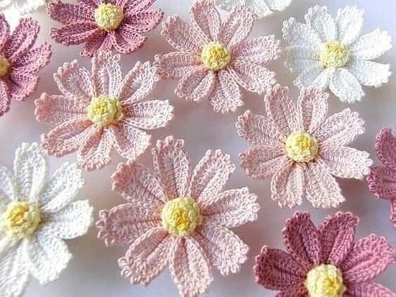 Милые цветы крючком 0