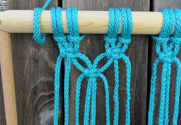 Плетеный гамак для дачи или балкона 7