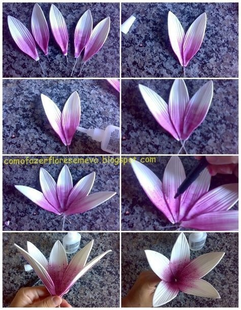 Цветы из фоамирана: мастер-класс