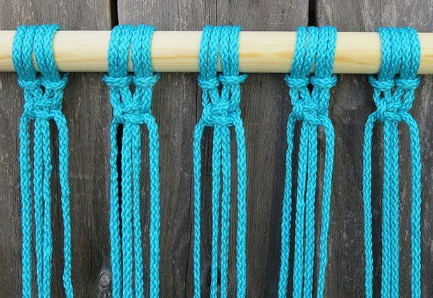 Плетеный гамак для дачи или балкона 6
