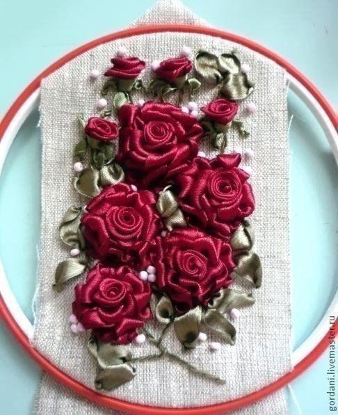 Роза в технике вышивки летами: мастер-класс
