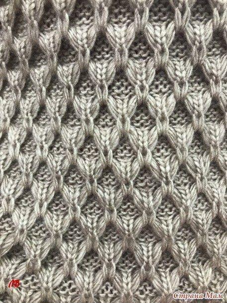Очень красивый узор для пуловера 0