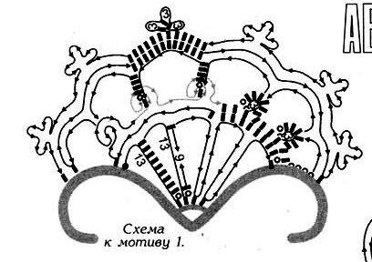 Ирландские мотивы: цветок, листик 3