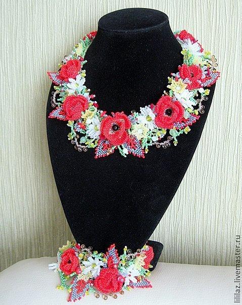 """Яркое колье """"Полевые цветы"""" 5"""