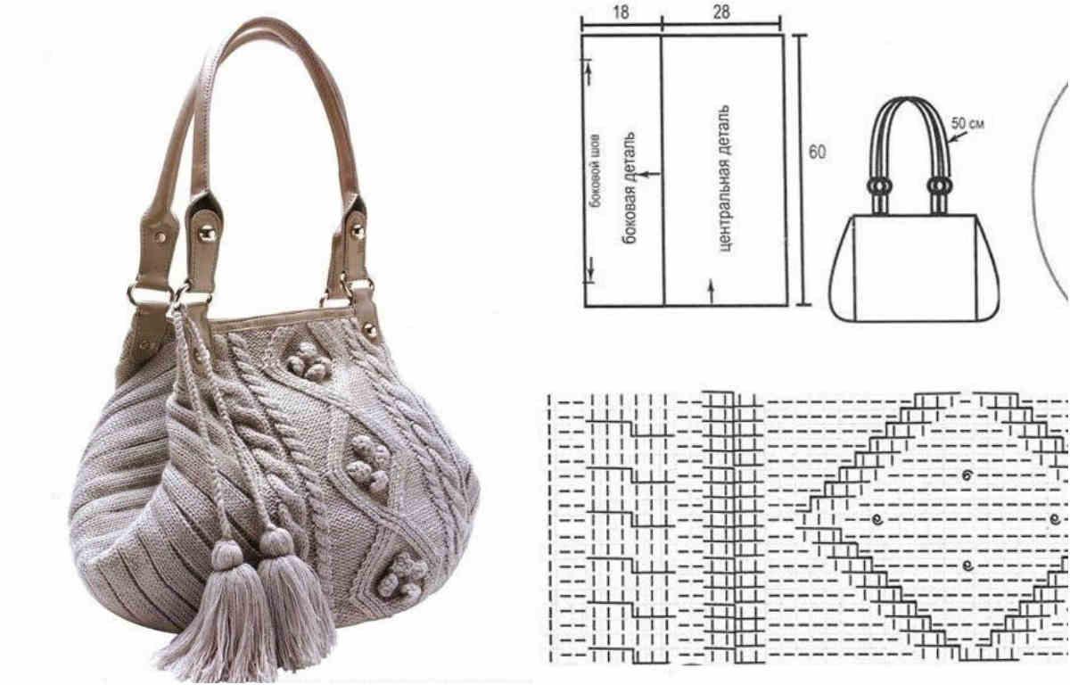 Вязаная сумочка со схемой 3