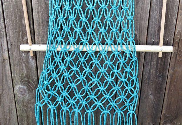 Плетеный гамак для дачи или балкона 9