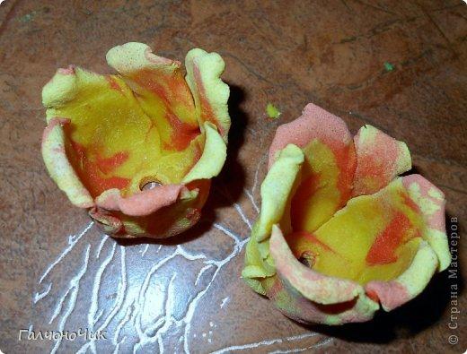 Тюльпаны из солёного теста 4