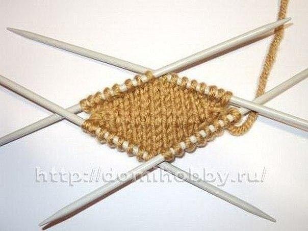 Вязание варежек от кончиков пальцев 4