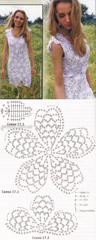 Роскошная подборка летних моделей крючком со схемами вязания 2