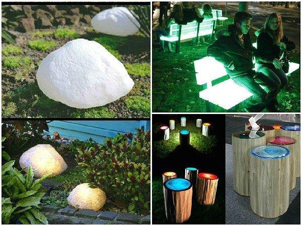 Использование флуоресцентных красок в декоре сада 3