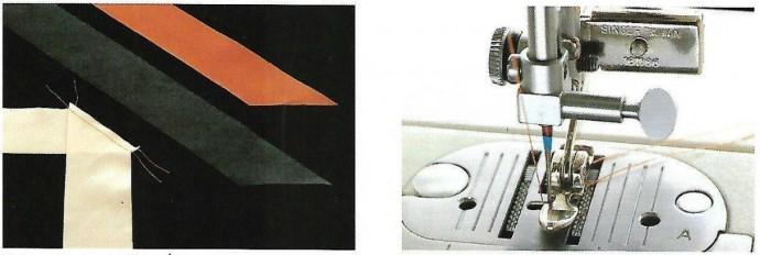 Обработка горловины двойным кантом