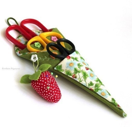Шьём оригинальный и удобный чехол для ножниц
