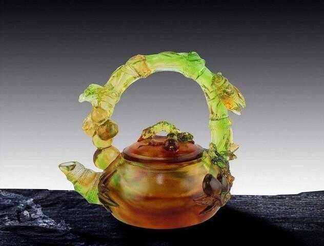 Чайнички из художественного стекла