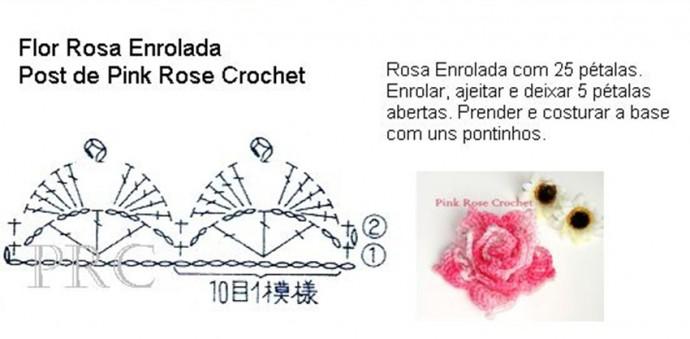 Очень красивая роза крючком