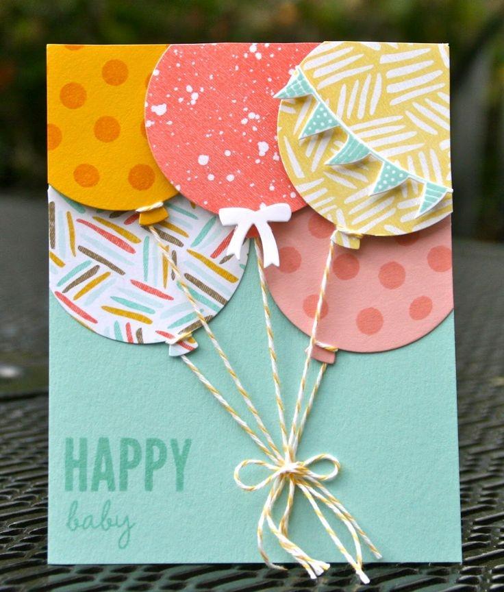 Как сделать открытку руками на день рождения с ребенком