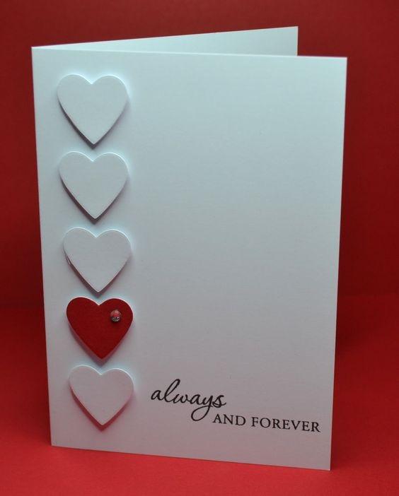 Влюбленные, самодельная открытка на день святого валентина парню